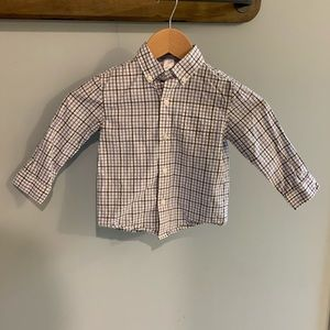 Janie and Jack Plaid Button Up Size 2T